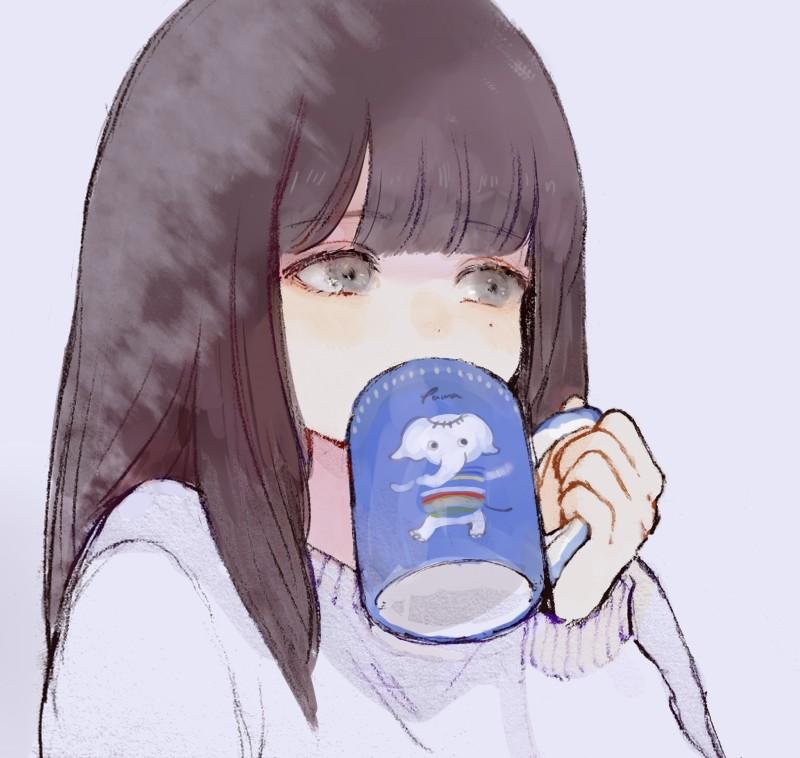 【2次】お茶やコーヒーなどの飲み物を飲んでいる女の子の二次画像【非エロ】