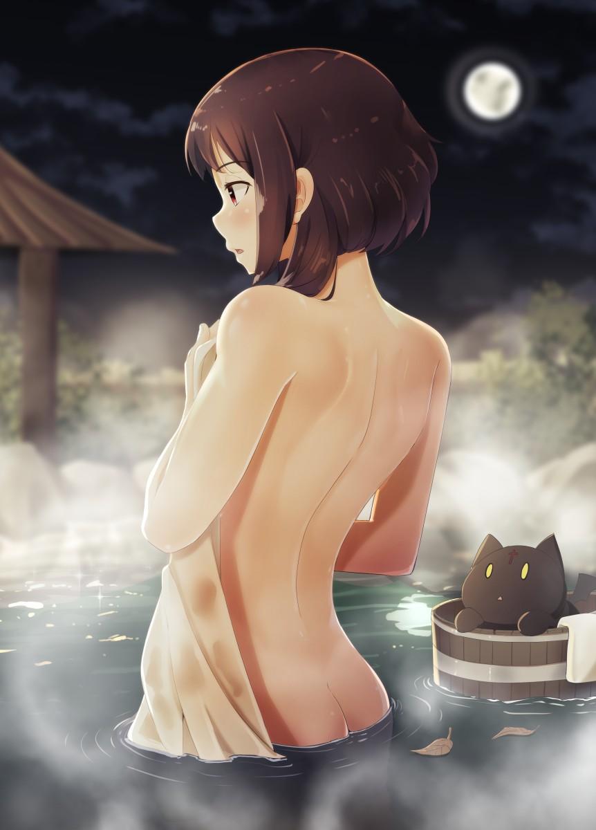 【2次】 背中が綺麗な女の子のエロ画像