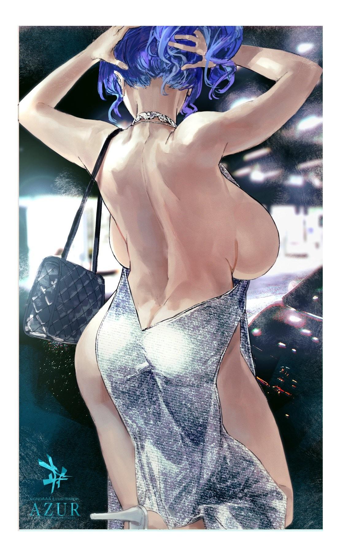 【2次】 背中が綺麗な女の子のエロ画像その8