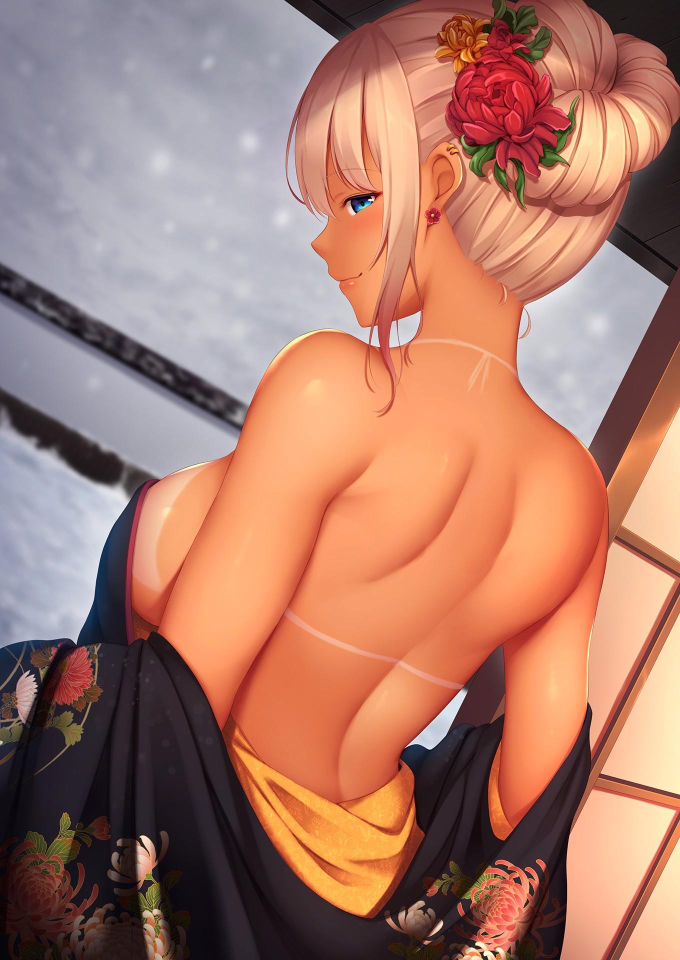 【2次】 背中が綺麗な女の子のエロ画像その17
