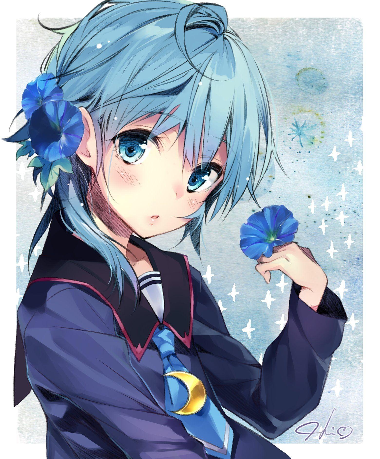 【2次】青髪の可愛い女の子のエロ画像その10