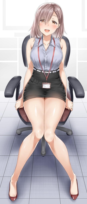 【2次】太ももが綺麗な女の子のエロ画像その42